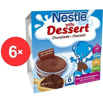 Nestlé BABY DESSERT Čokoládový - 6× (4× 100 g) (12298757)
