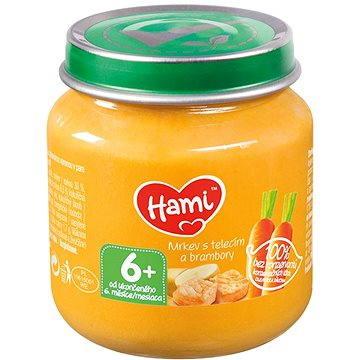 Hami Příkrm mrkev s telecím a brambory 125 g (8590340119989)
