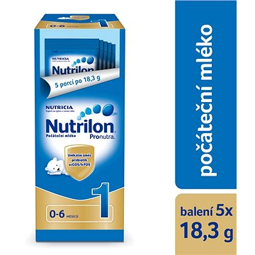 Nutrilon 1 Pronutra počáteční mléko 5 × 18,3 g, 0+ zkušební a cestovní balení (8590340159251)