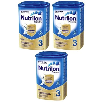Nutrilon 3 Pronutra batolecí mléko 3 × 800 g
