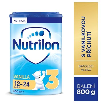 Nutrilon 3 Pronutra Vanilla batolecí mléko 800 g (8590340104084)