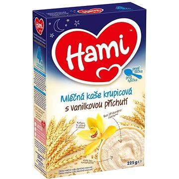 Hami Mléčná kaše krupicová s vanilkovou příchutí na dobrou noc 225 g (8590340132841)