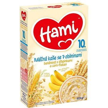 Hami Mléčná kaše se 7 obilninami banánová s křupinkami a corn-flakes 225 g (5900852026058)