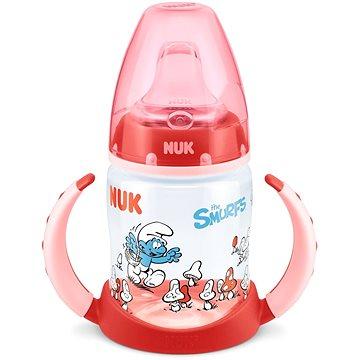 NUK Láhev First Choice na učení 150 ml - Šmoulové PP, červená (BABY5661a)