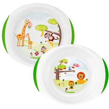 Chicco Jídelní set talíř a miska, 12m+ (8003670879930)