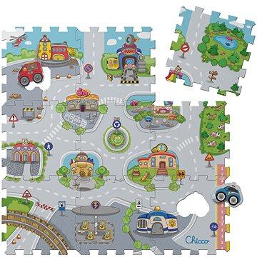 Chicco Pěnové puzzle Mesto 30 × 30 cm, 9 ks (8058664028337)