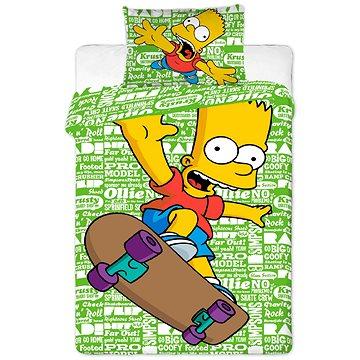 Dětské povlečení Jerry Fabrics Bart green 2016 (8592753006153)
