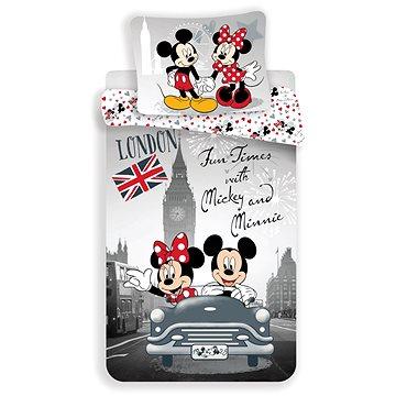 Dětské povlečení Jerry Fabrics Mickey a Minnie in London (8592753010648)