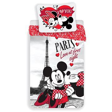 Dětské povlečení Jerry Fabrics Mickey a Minnie in Paris I love you (8592753010242)