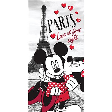 Osuška Jerry Fabrics Osuška Mickey a Minnie in Paris (8592753010525)