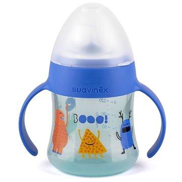 Suavinex Lahvička s oušky Booo 150 ml - modrá (8426420040259)
