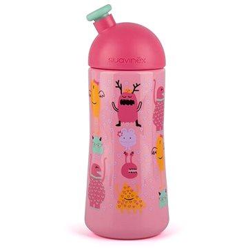 Suavinex Třetí láhev se sportovním pítkem Booo 360 ml - růžová (8426420040303)