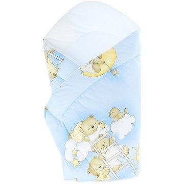 New Baby Dětská zavinovačka modrá s medvídkem (8596164010662)