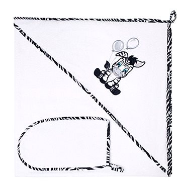 New Baby Luxusní dětská osuška Zebra 90 × 90 cm bílá (8596164016800)