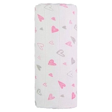 T-tomi TETRA osuška Pink Hearts (8594166543812)