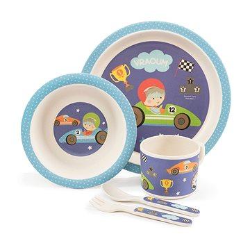 ZOPA Bambusová sada nádobí - Little racer (8595114431946)