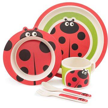 Zopa Bambusová sada nádobí - Ladybird (8595114432042)