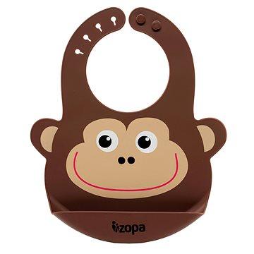 ZOPA Silikonový bryndák - Monkey (8595114431847)