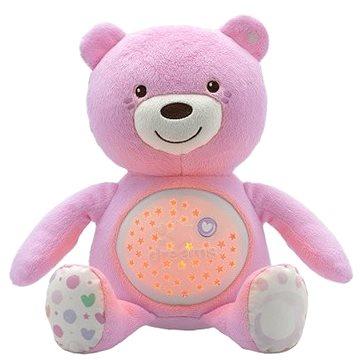 Chicco Hračka medvídek s projektorem - růžová (8058664060351)