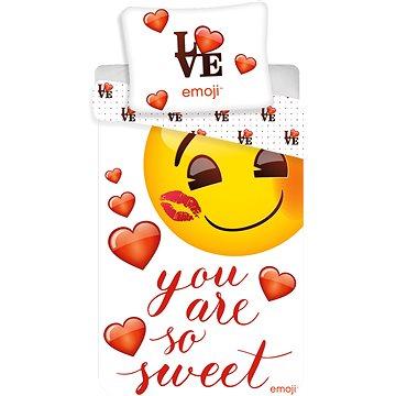 Dětské povlečení Jerry Fabrics Emoji You are so sweet (5710756025640)