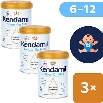 Kendamil pokračovací mléko, 2 (3× 900 g)