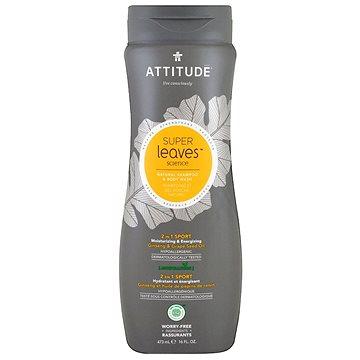 Šampon pro muže ATTITUDE Super Leaves Science Natural Shampoo & Body Wash Sport 473 ml (626232110067)