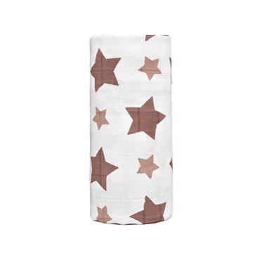 T-tomi BIO Velká bambusová osuška, beige stars / béžové hvězdičky (8594166544420)