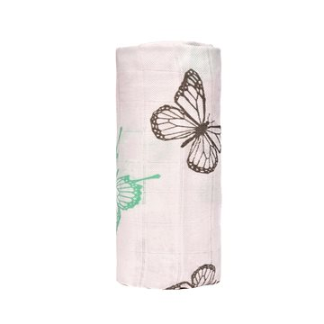 T-tomi BIO Velká bambusová osuška, butterflies / motýlci (8594166544451)