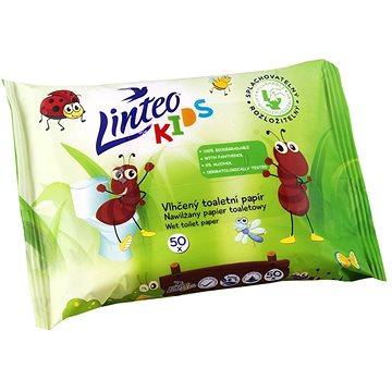 LINTEO KIDS Vlhčený toaletní papír 50 ks (8594158371485)