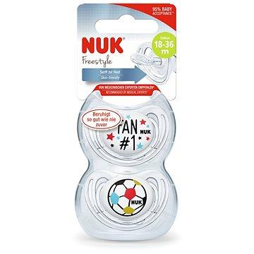 NUK Dudlík Freestyle fotbalová edice 2 ks (4008600297741)