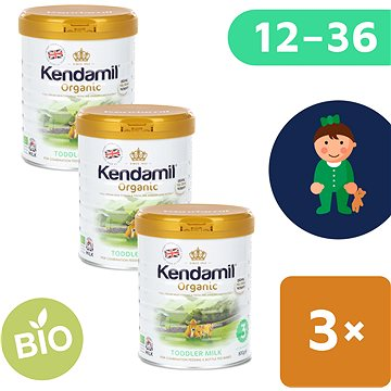 Kendamil 100% BIO plnotučné kojenecké mléko 3 (3× 800 g)