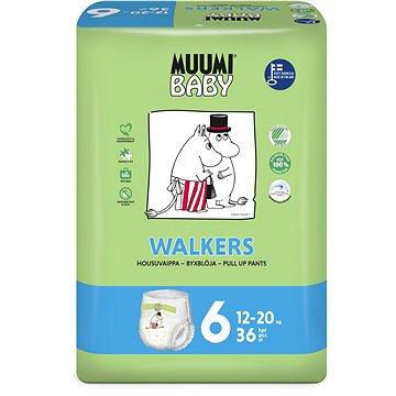 MUUMI BABY Walkers Junior vel. 6 (36 ks) (6414100594255)