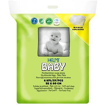 HELMI BABY ekologické přebalovací podložky 58 × 60 cm, 6 ks (6414100884905)