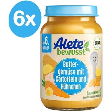 ALETE BIO Příkrm mrkvový s bramborem a kuřecím masem 6× 190 g (4251099600497)