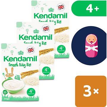 Kendamil Jemná dětská rýžová kaše 3× 100 g (5056000507990)