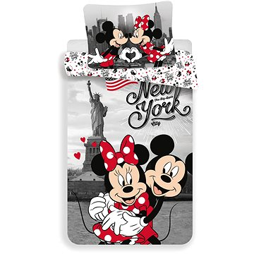 """Jerry Fabrics ložní povlečení - Mickey&Minnie in New York """"Love"""" (8592753012833)"""