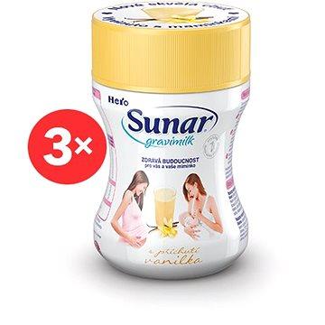Sunar Gravimilk s přichutí vanilka 3× 300 g (8592084413019)