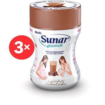 Sunar Gravimilk s přichutí čokoláda 3× 300 g (8592084413033)