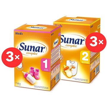 Sunar Complex 1, 3× 600 g, Sunar Complex 2, 3× 600 g (8592084414054)