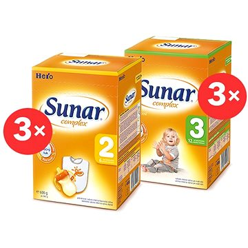 Sunar Complex 2, 3× 600 g, Sunar Complex 3, 3× 600 g (8592084414061)