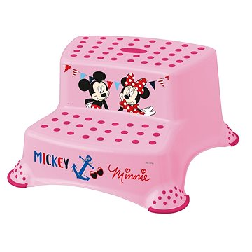 """KEEEPER Dvojstupínek """"Mickey&Minnie"""" - růžový (3110141950007)"""