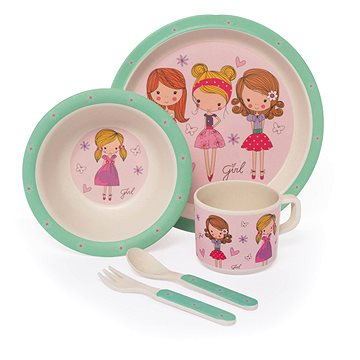Zopa Bambusová sada nádobí - Fashion girl (8595114411269)