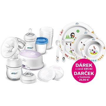 Philips AVENT Natural + sada pro kojení + jídelní sada (8595640909193)