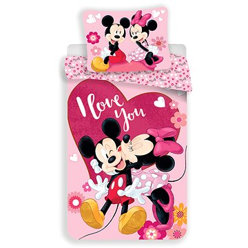 """Jerry Fabrics ložní povlečení - Mickey&Minnie """"Kiss"""" (8592753018415)"""