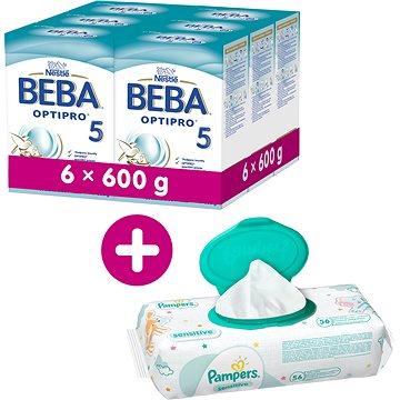 BEBA OPTIPRO 5 (6× 600 g) + T-tomi pleny Opice (8593893771017)