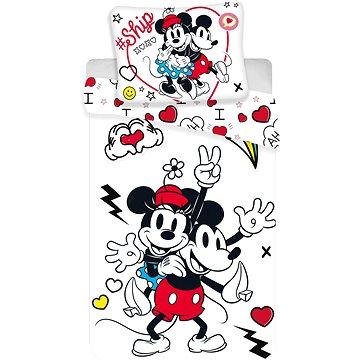 Jerry Fabrics ložní povlečení - Mickey&Minnie retro heart (8592753019924)