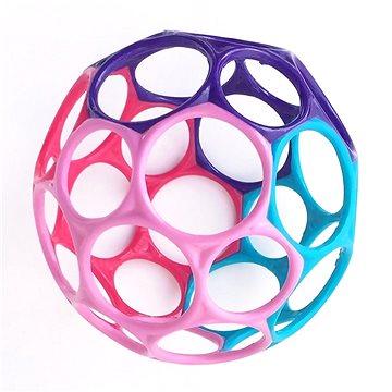 Oball hračka 10 cm 0m+, růžovo-fialová