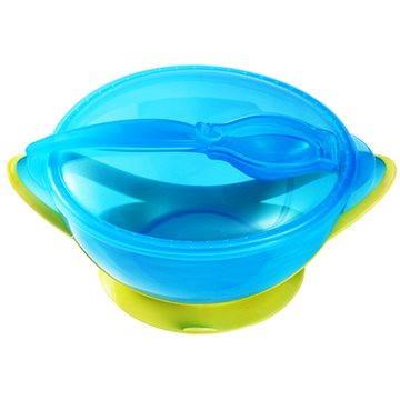 BabyOno miska s přísavkou a lžičkou - zelená (5904341208079)