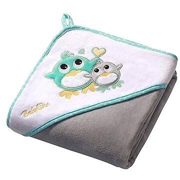 BabyOno osuška s kapucí - šedá (5901435405062)