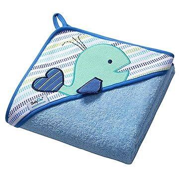 BabyOno osuška s kapucí - modrá (5901435404942)